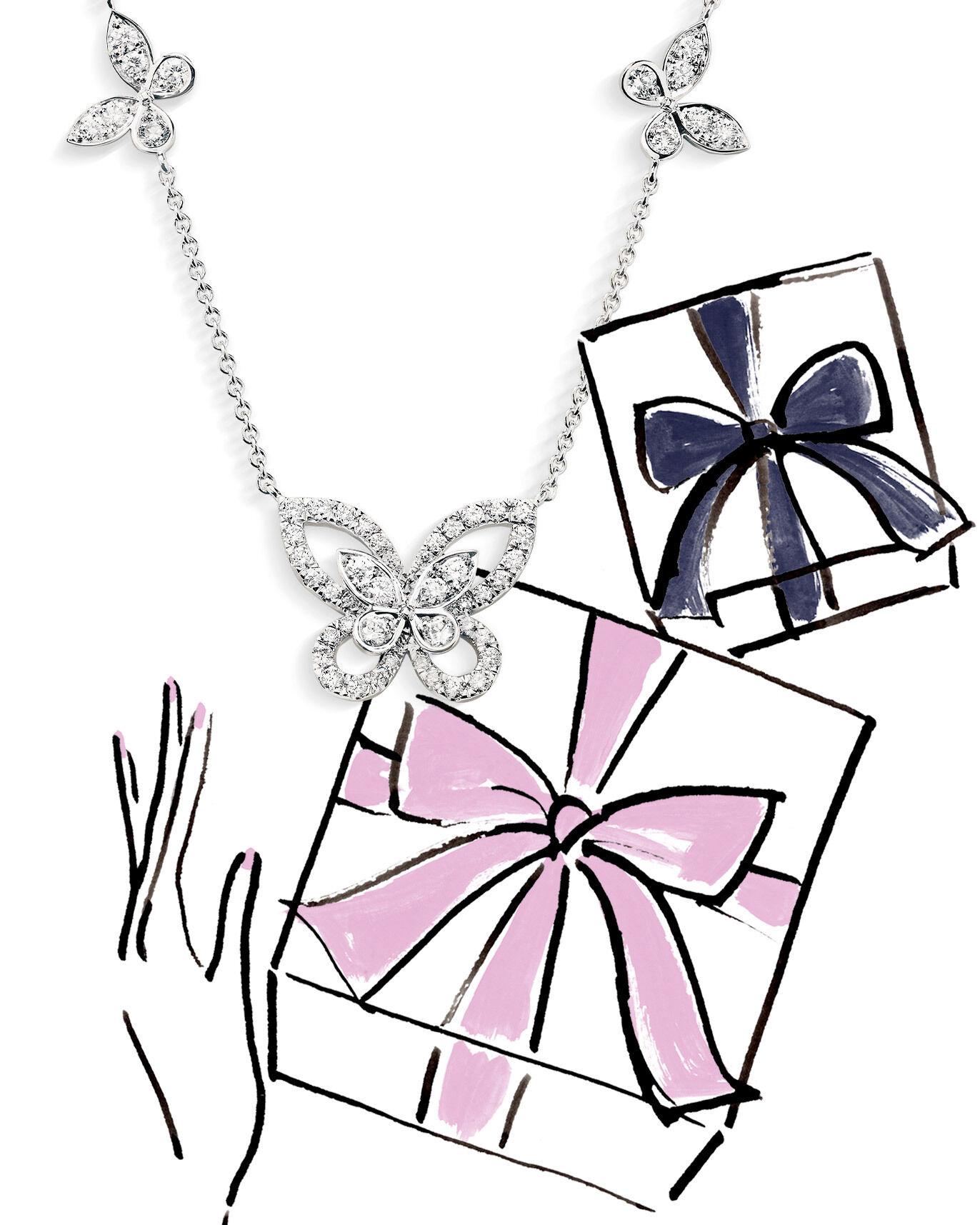Model wears the Graff Threads collection diamond jewellery