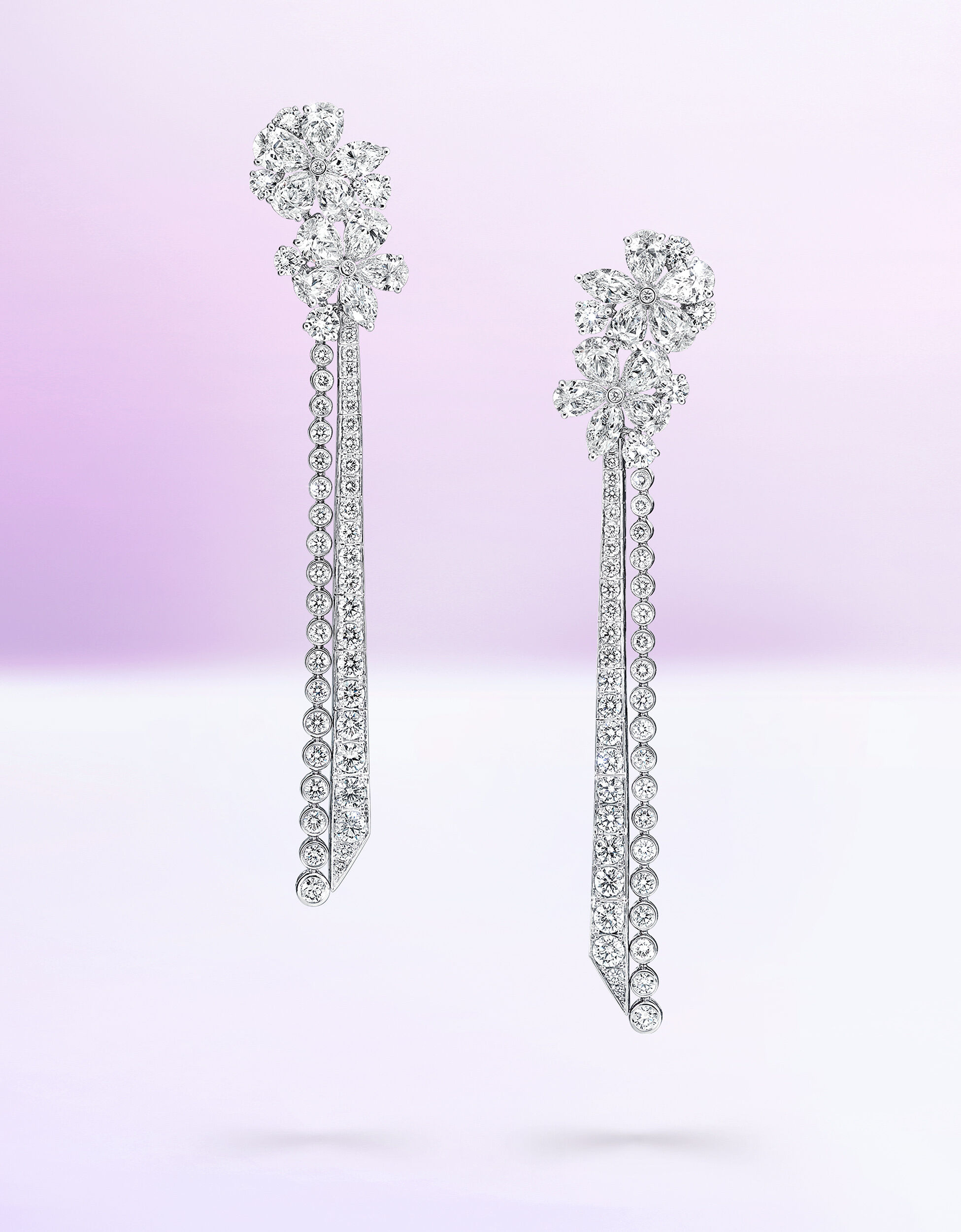 A Pair of Graff Carissa Jewellery Collection Diamond Earrings