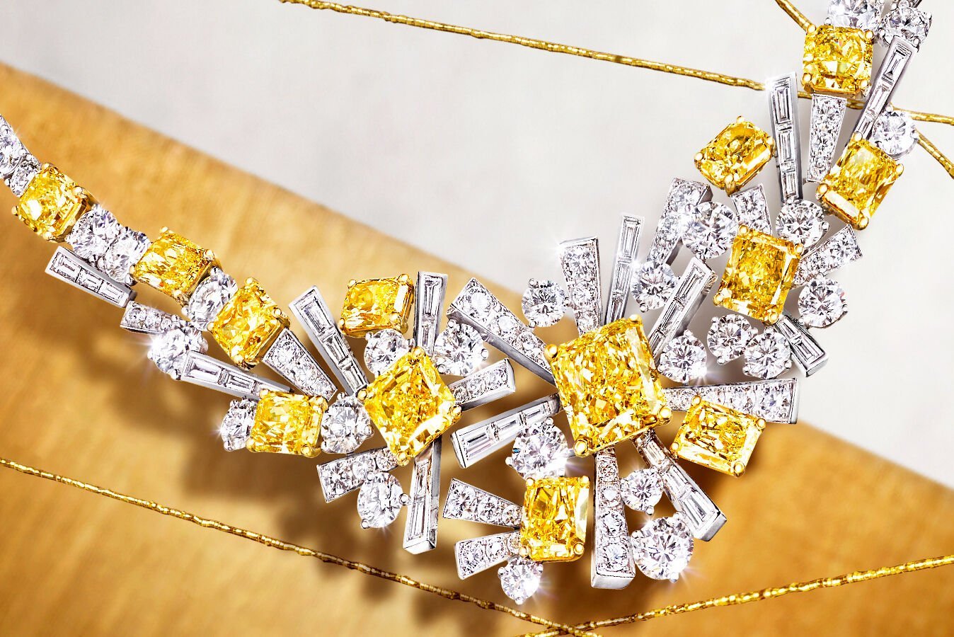 Graff Threads Yellow and White Diamond Necklace