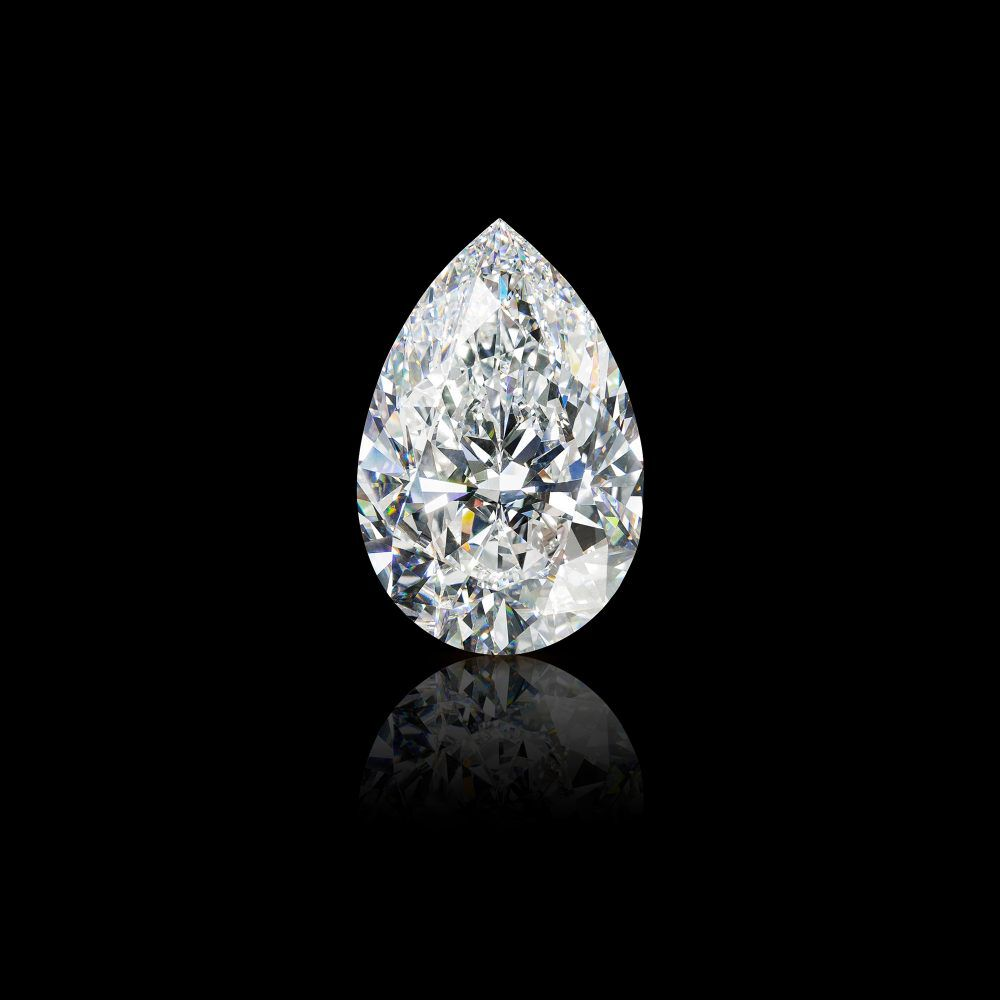 The 105.07 carat Graff Vendôme D Flawless pear shape diamond