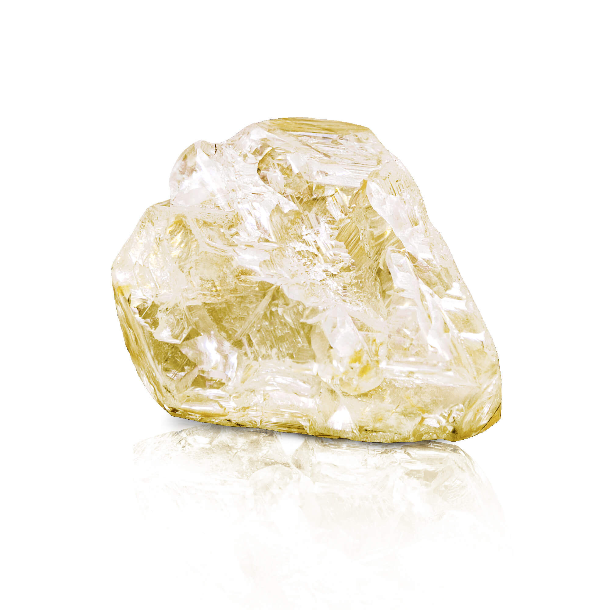 The rough stone of the 709 carat Peace Diamond acquired by Graff