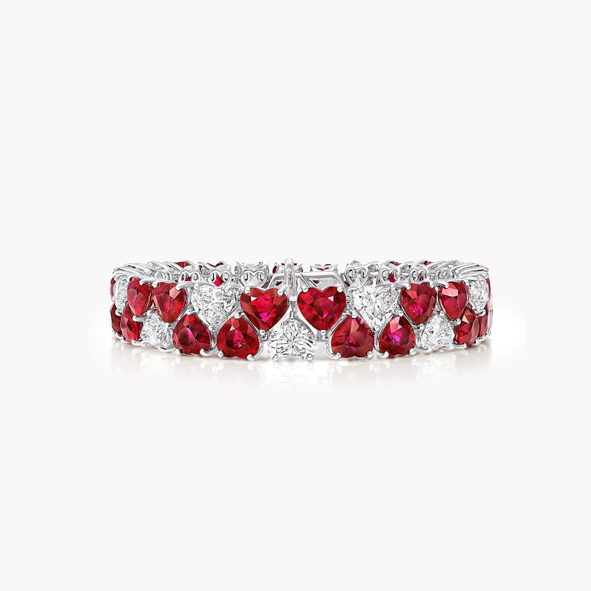A Graff ruby and white diamond high jewellery bracelet