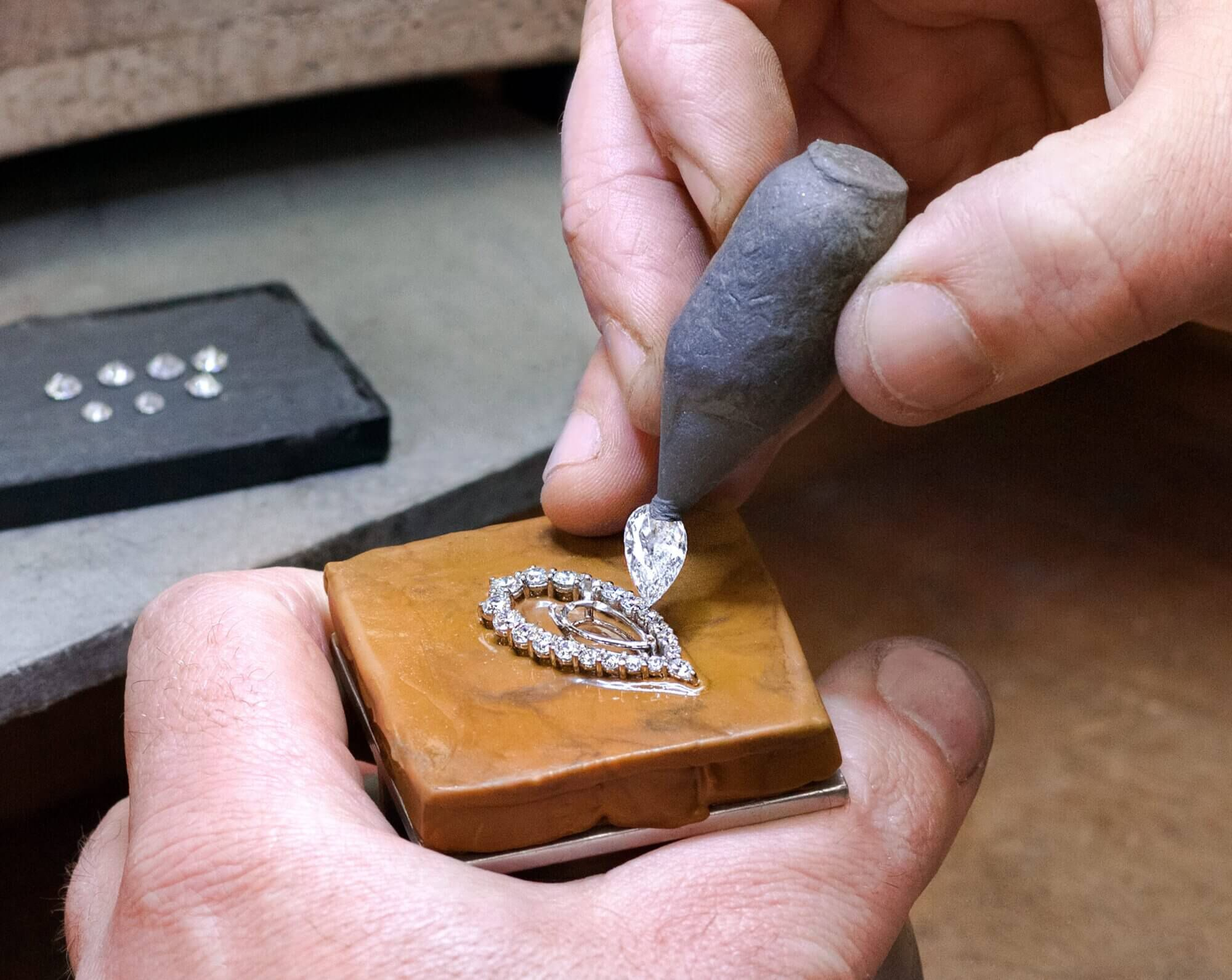 Graff Diamonds Making of a Masterpiece Earrings Exacting Placement