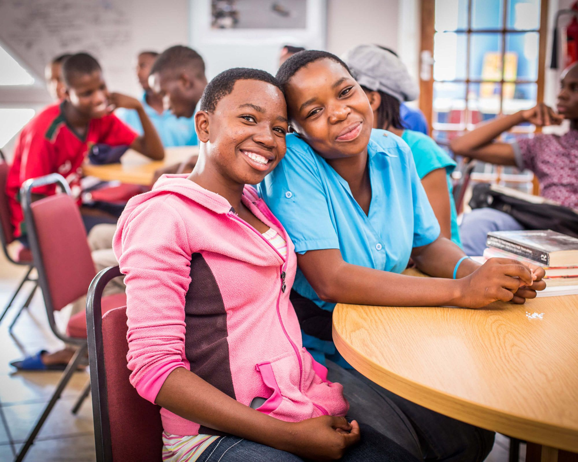 Students inside the Lesotho Leadership Centre
