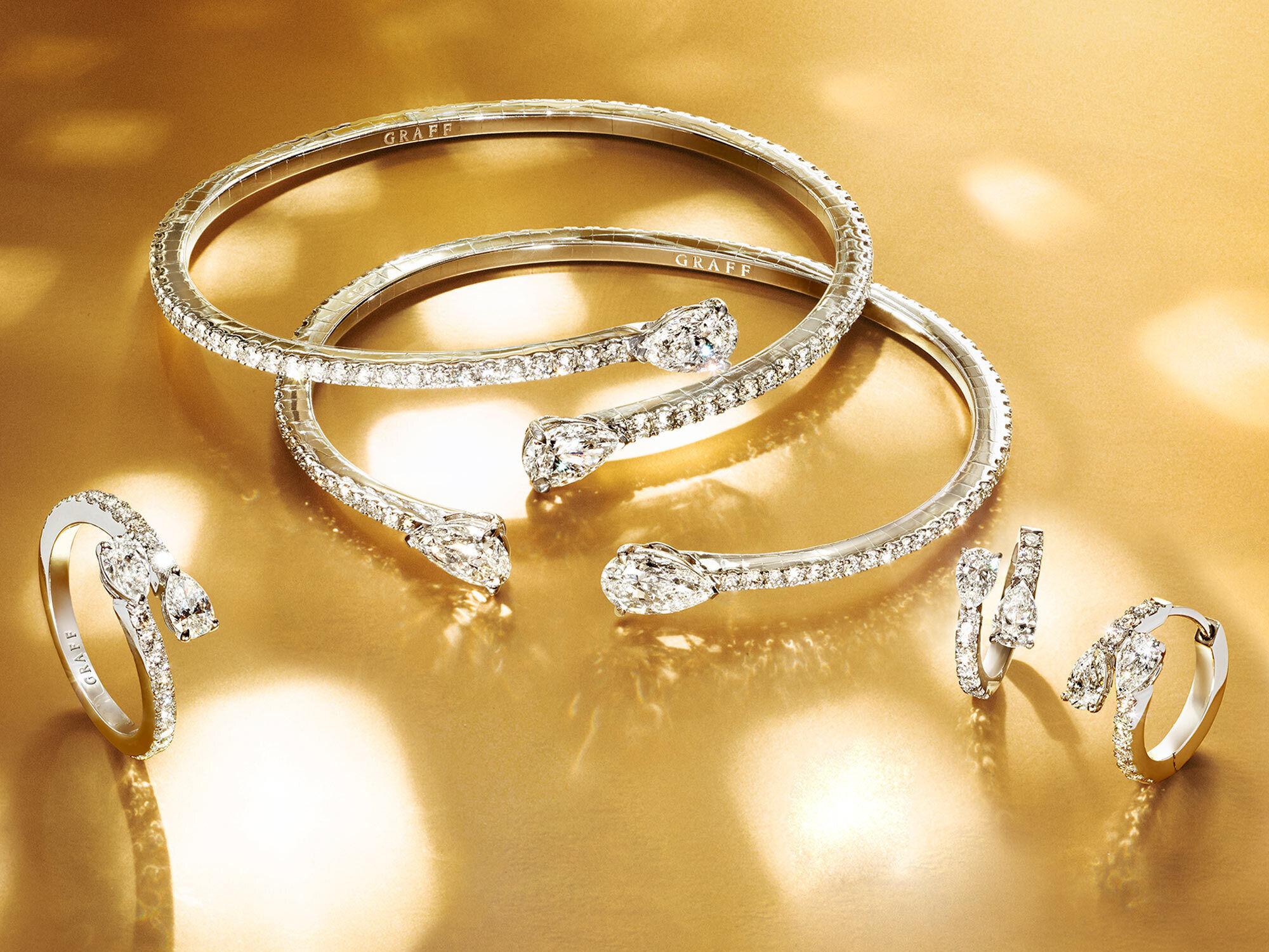 Graff Duet Bracelet, earrings and ring