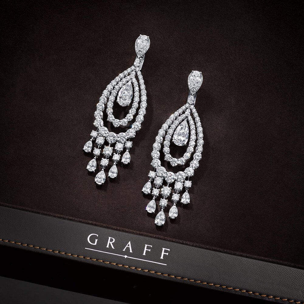 A pair of Graff diamonds earrings