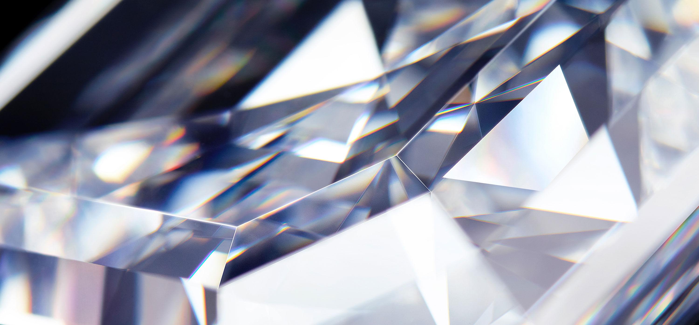 Close of of a diamond