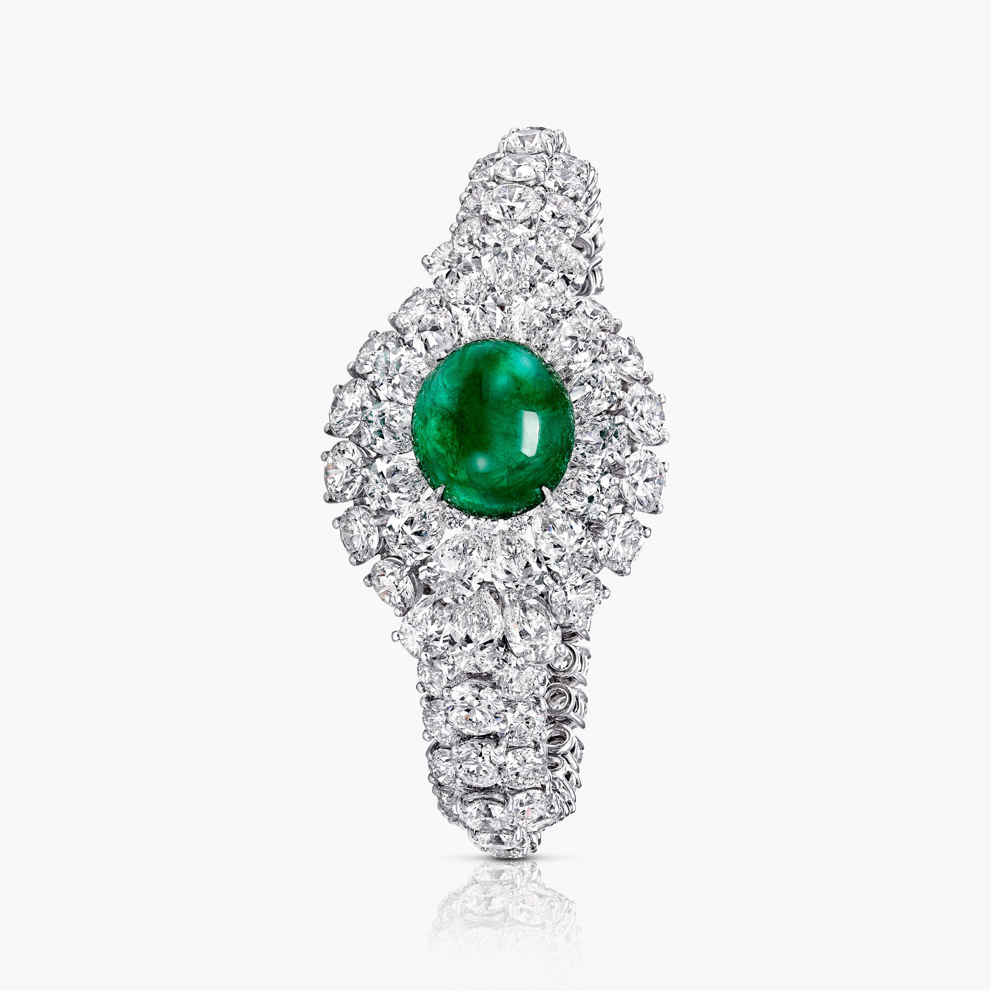 A Graff emerald and white diamond high jewellery bracelet