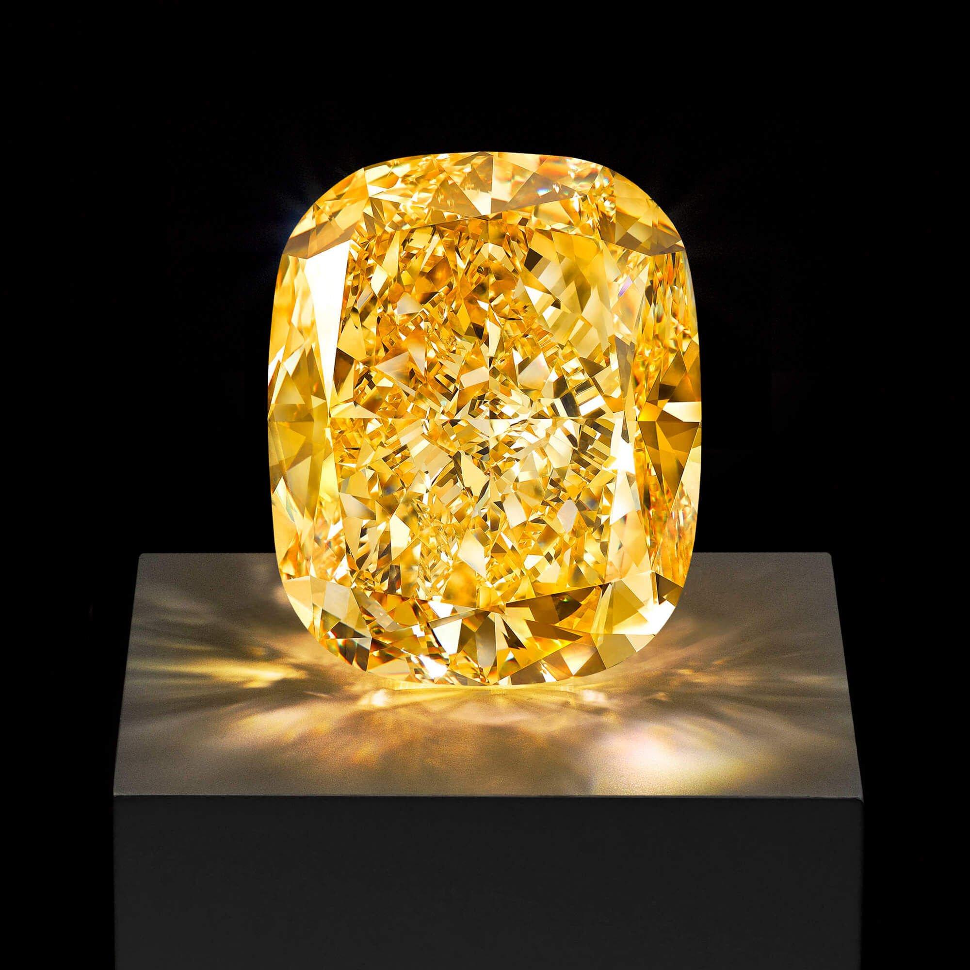 A radiant cut yellow diamond by Graff