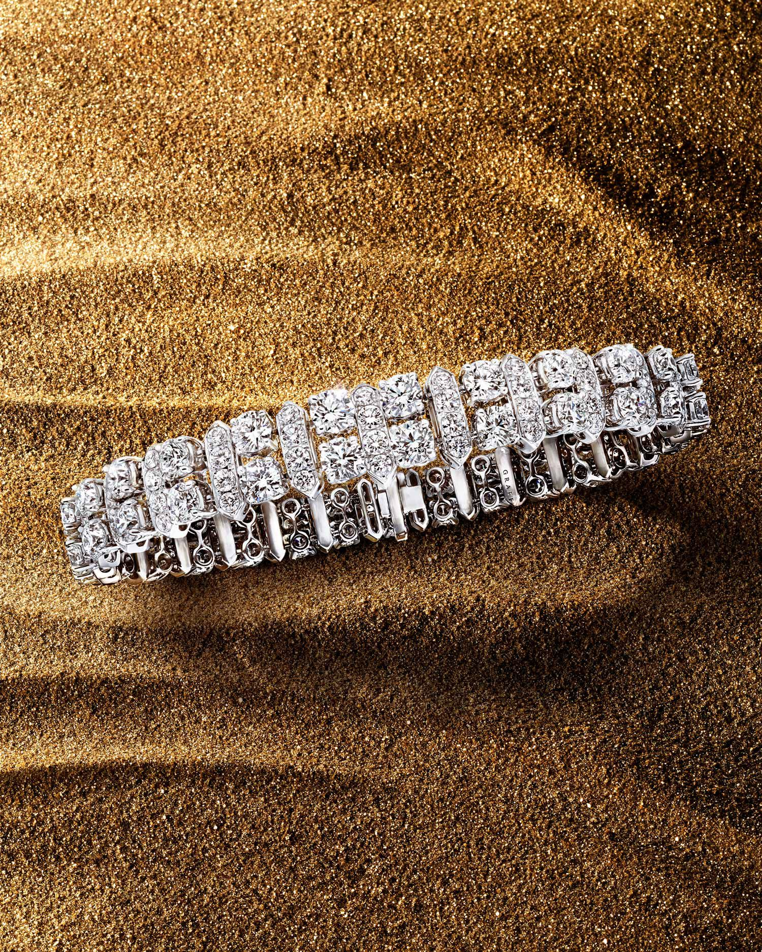 Diamond Night Moon high jewellery bracelet from the Graff Tribal collection