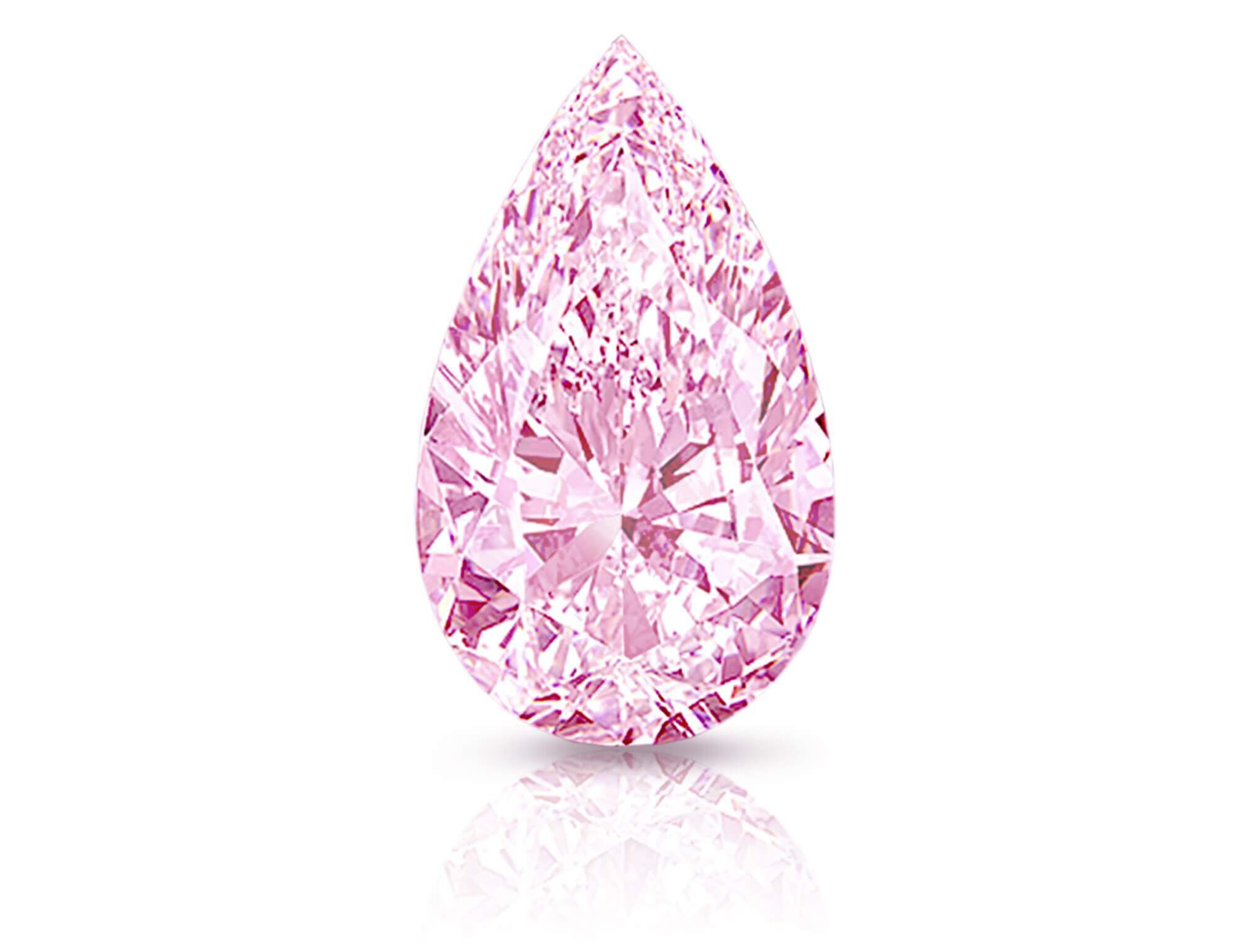 The pear shape pink diamond 'Empress Rose' by Graff