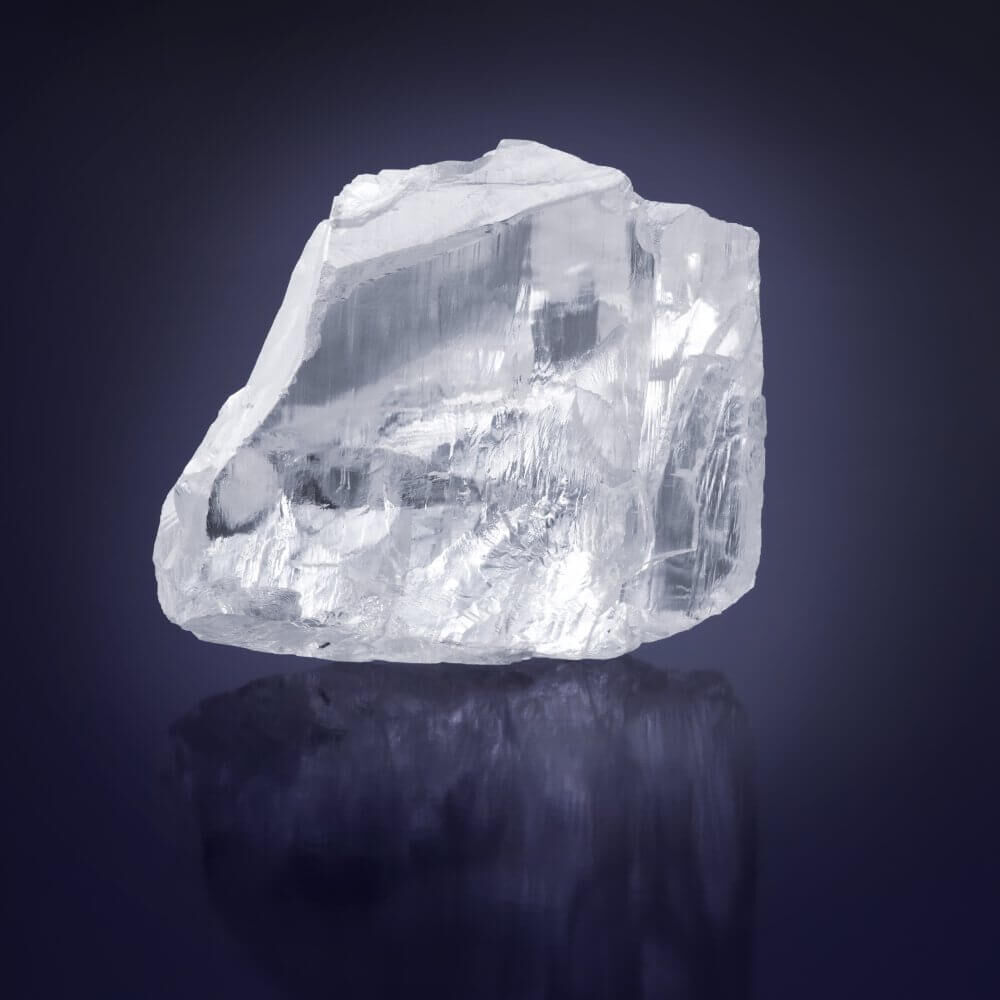 the Meya Prosperity rough diamond