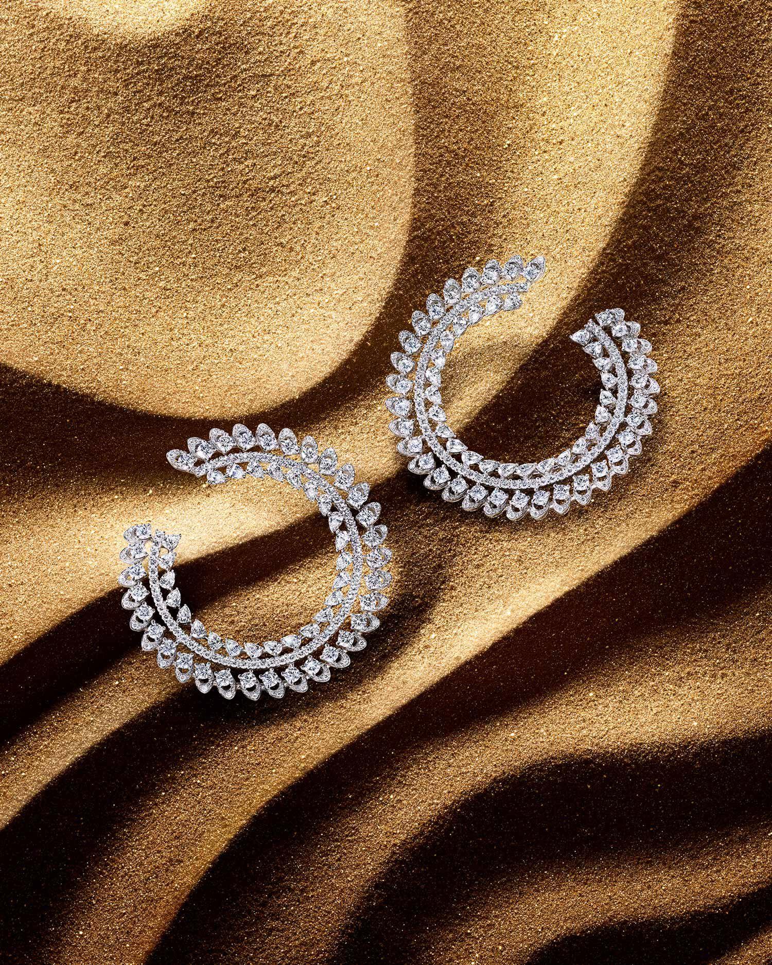Graff Gateway diamond earrings and bracelets