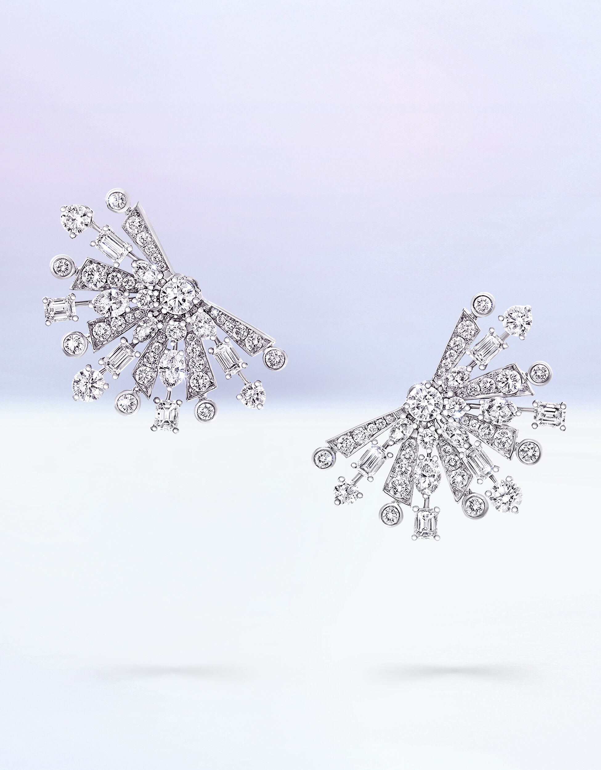 A Pair of Graff Solar Jewellery Collection Diamond Earrings