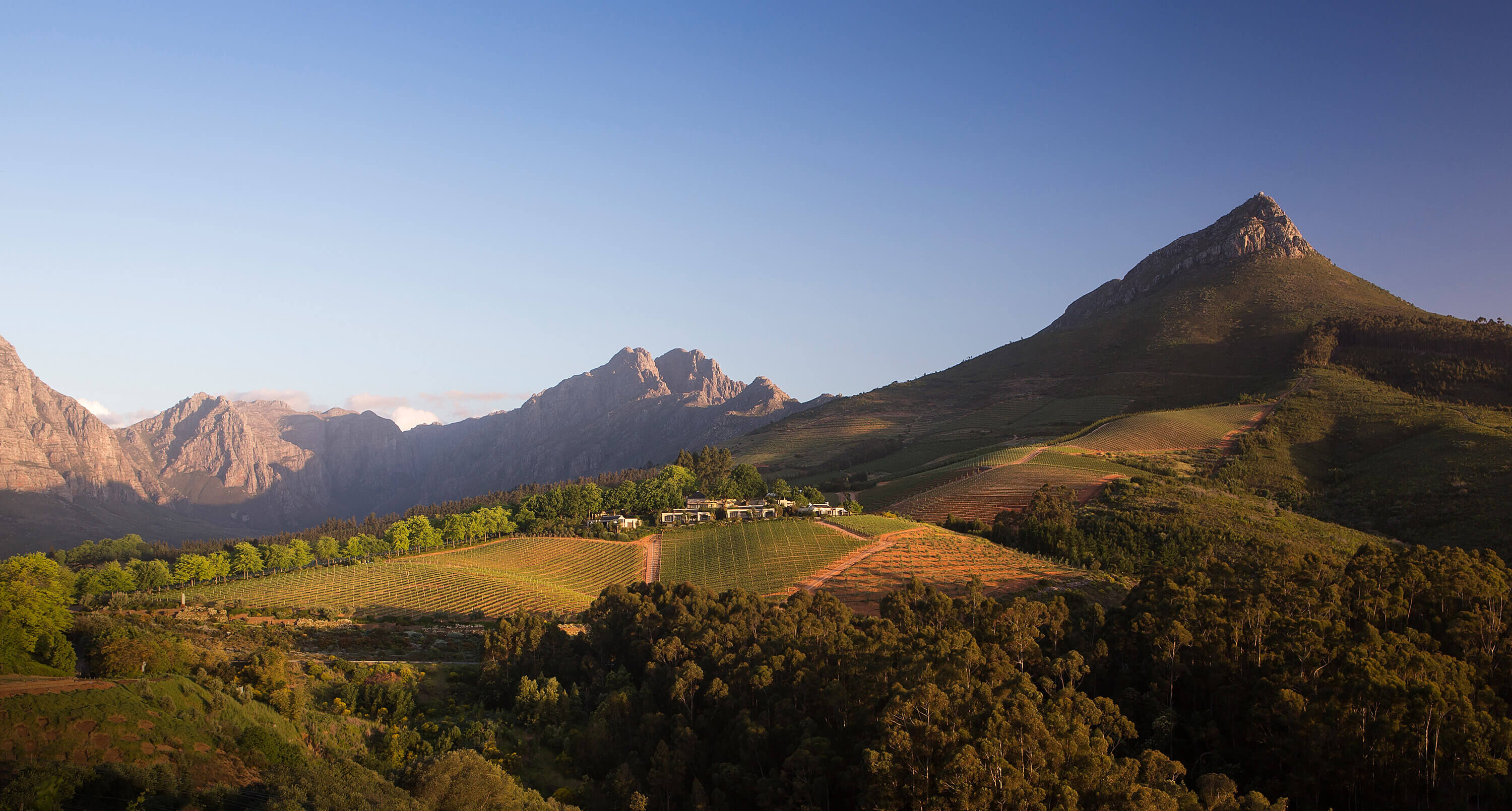 View of the Delaire Graff Estate in Stellenbosch, South Africa