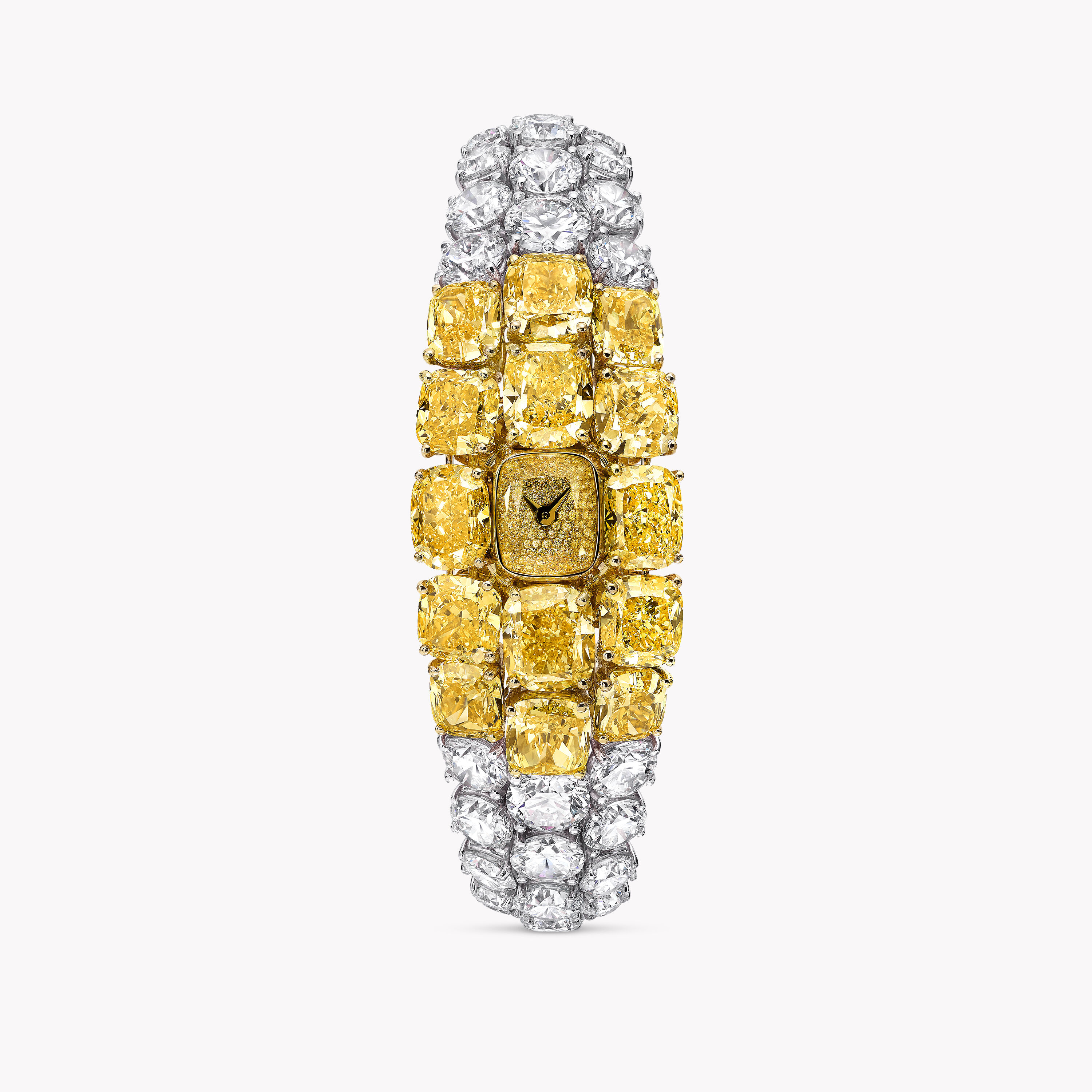 A Graff yellow and white diamond unique timepiece for lady