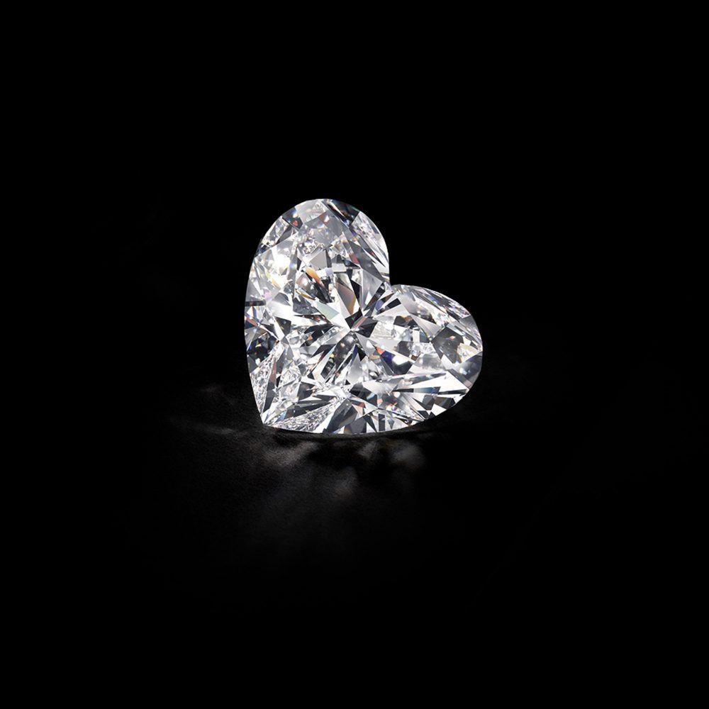 The Graff Venus, a 118.78 carat D Flawless heart shape diamond
