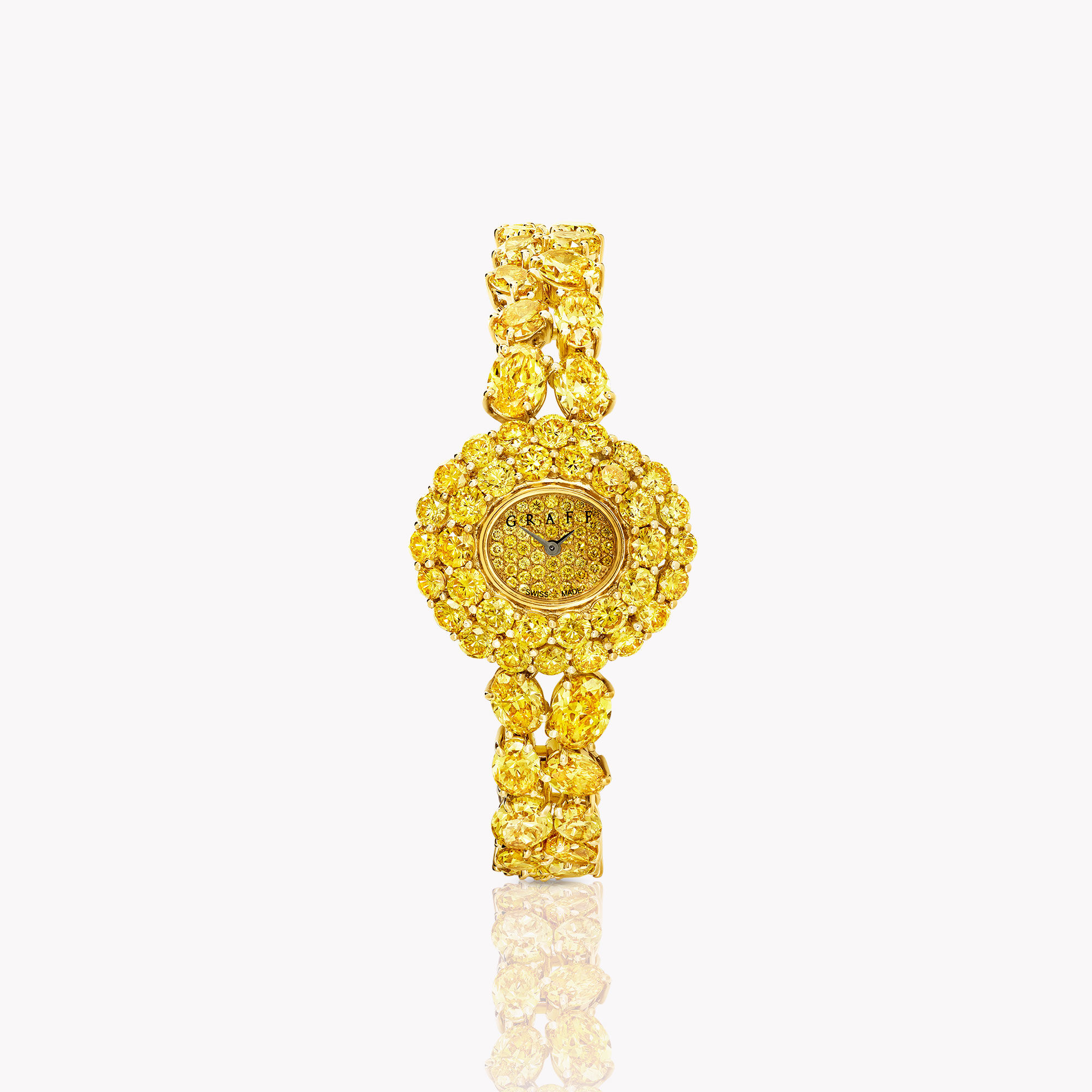 Oval Fancy Vivid Diamond Watch from the Graff unique timepieces collection