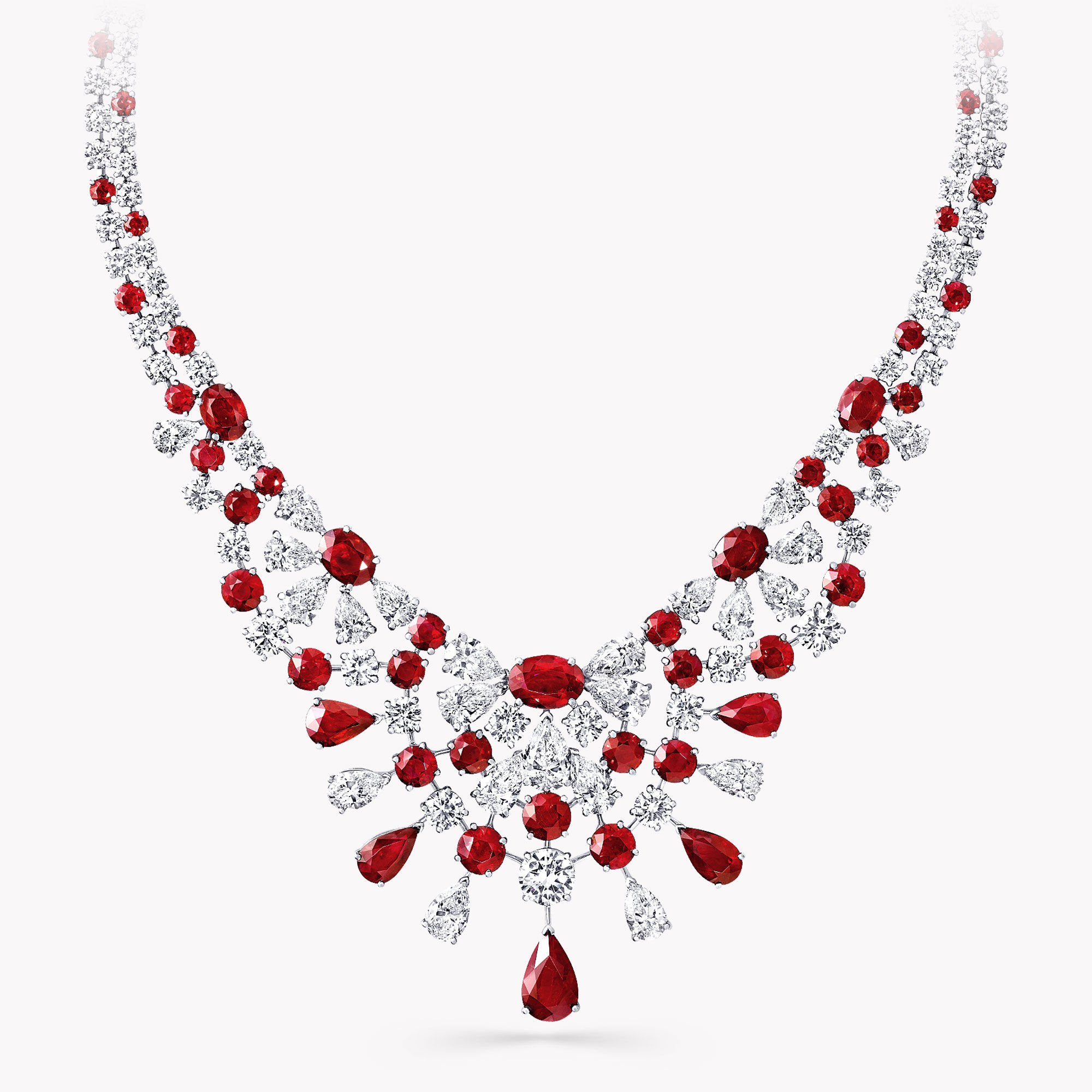 A Graff ruby and white diamond high jewellery necklace