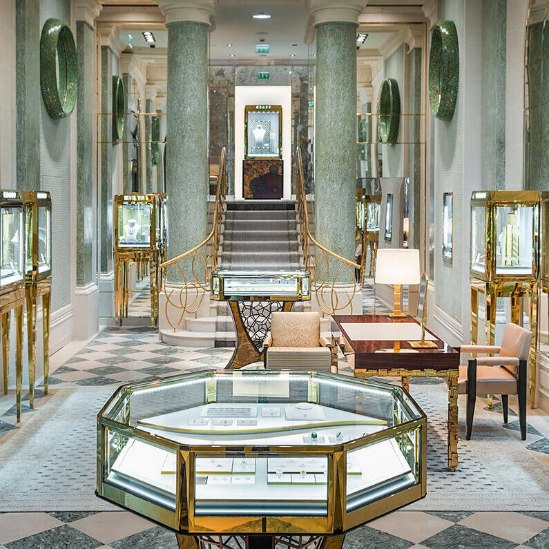 interior of the Graff Paris Place Vendôme jewellery boutique