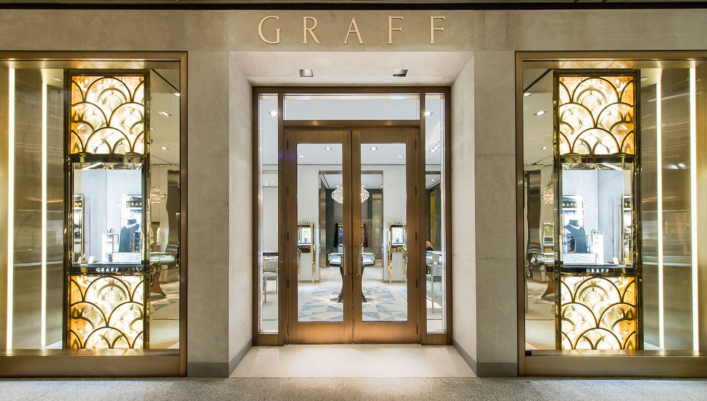 exterior of the Graff jewellery boutique in Bal Harbour