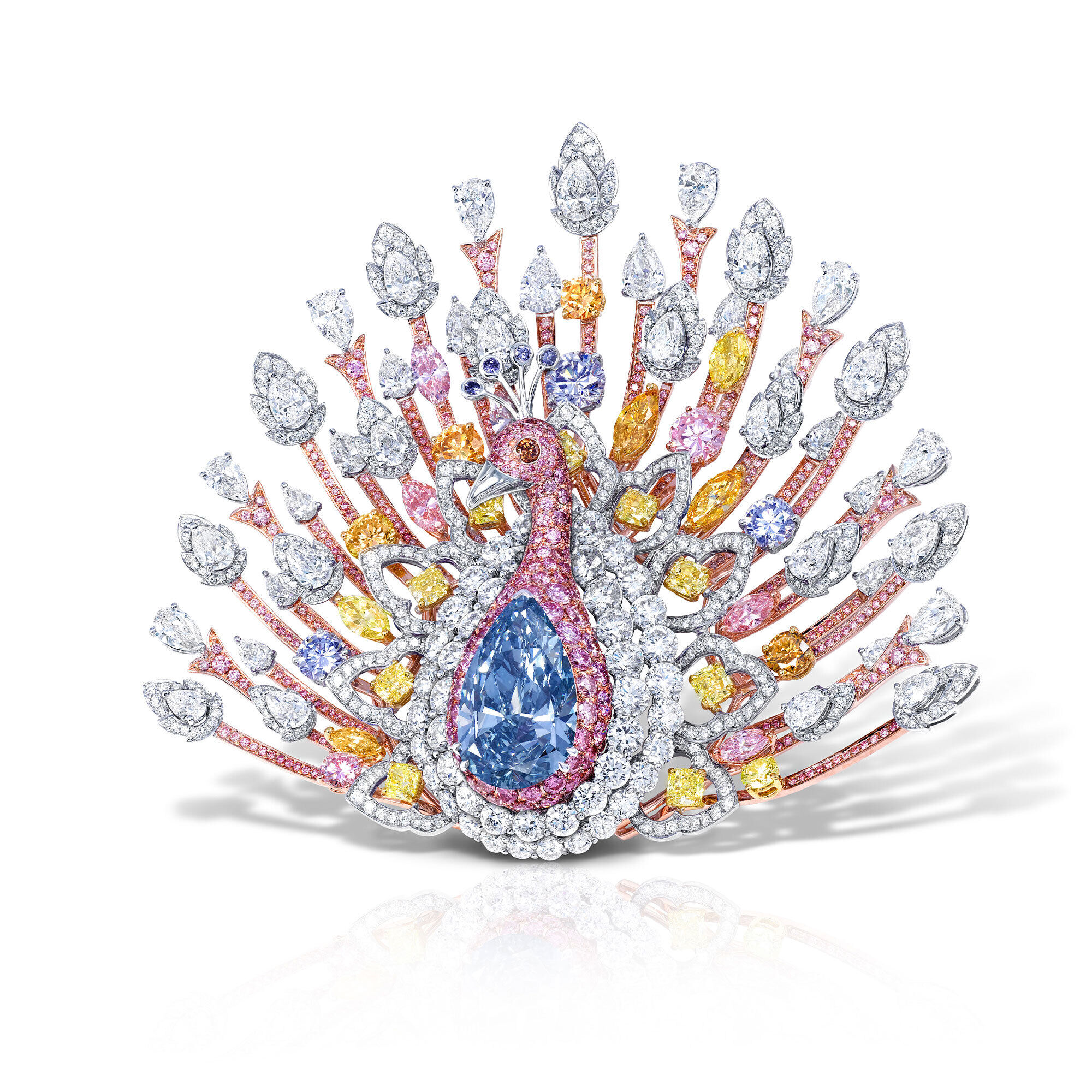 a Graff multi-coloured diamond high jewellery brooch