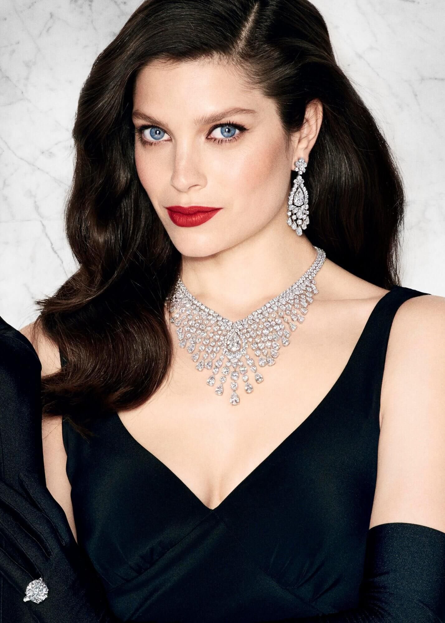 Graff Diamonds Lights Camera Action Article Diamond earrings Diamond necklace and a D Flawless round diamond ring
