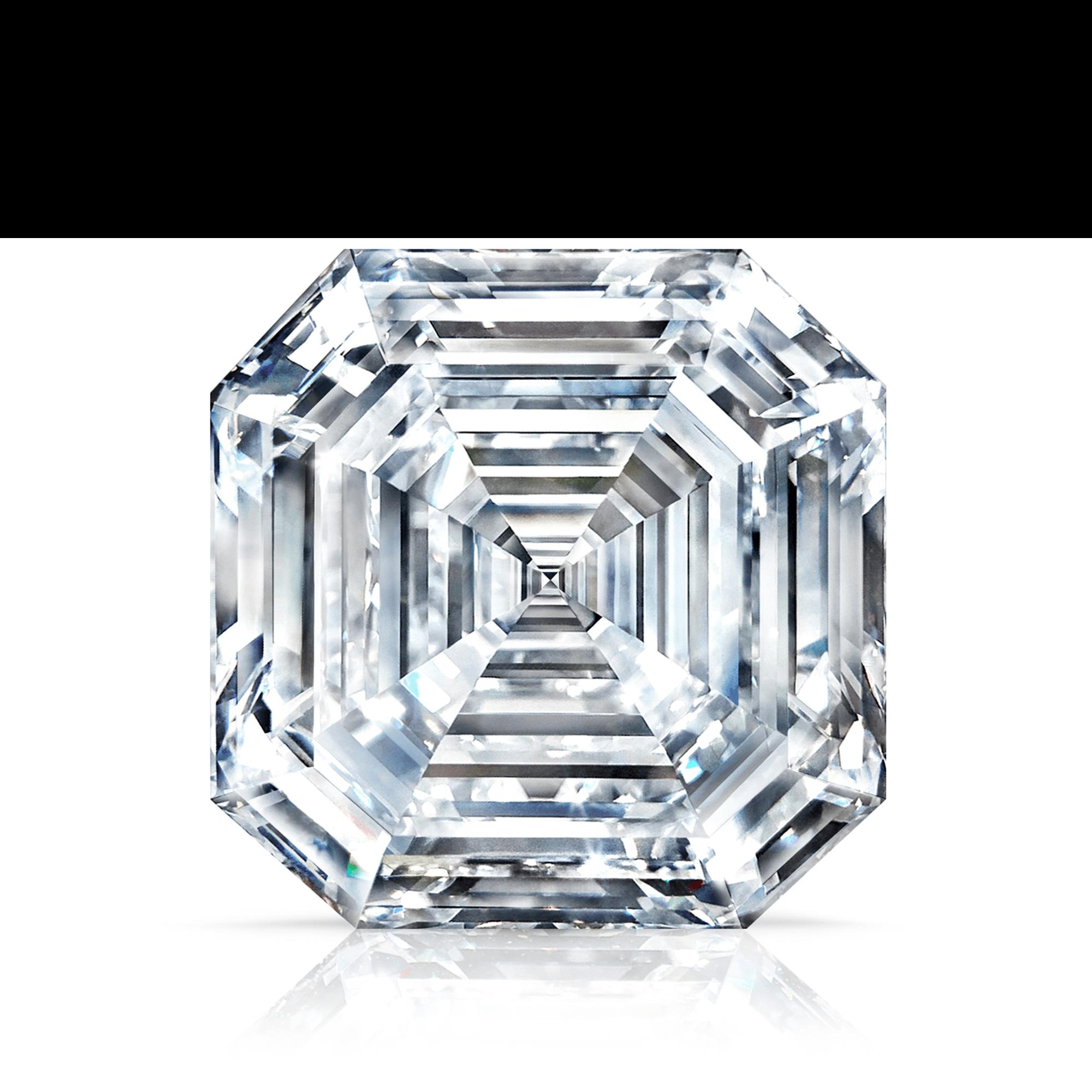 Front view of the 302 37ct Graff Lesedi La Rona Square Emerald Cut Diamond