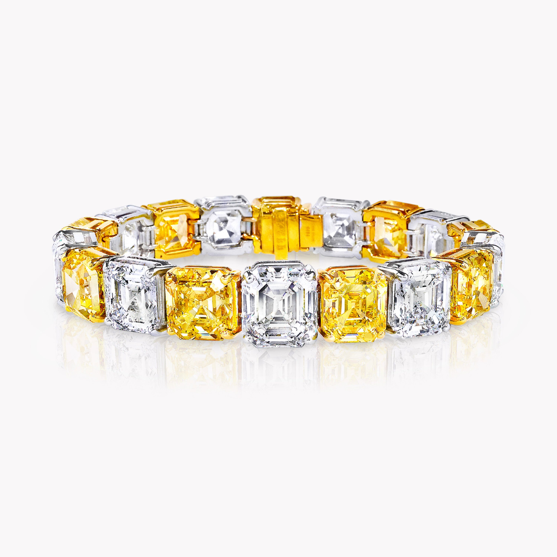 A Graff yellow and white diamond high jewellery bracelet