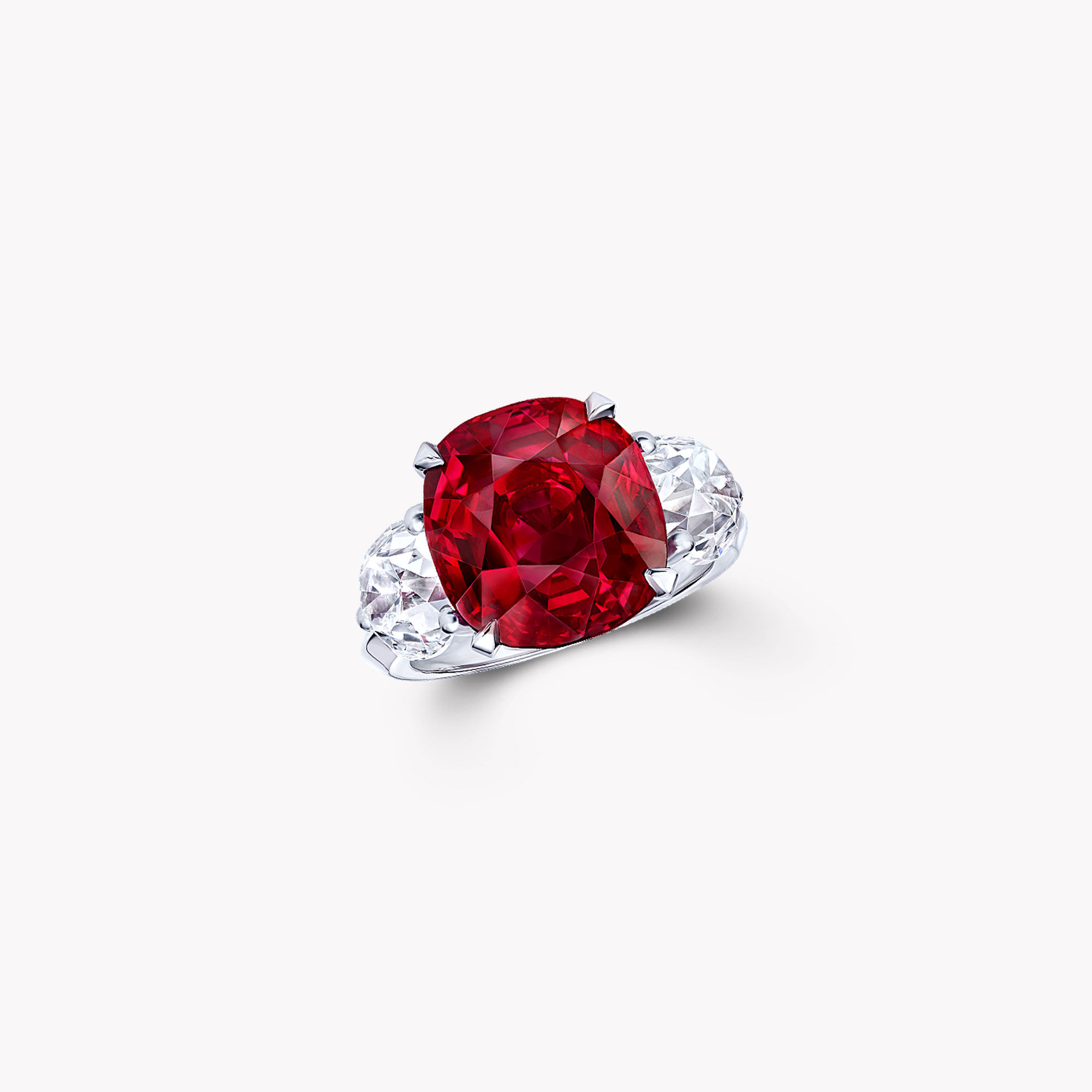 Unique ruby and diamond Solitaire ring from the Graff high jewellery collection