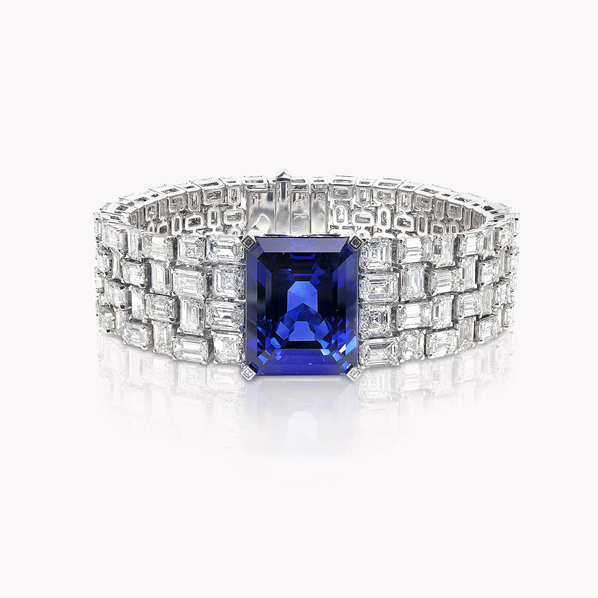 A Graff sapphire and white diamond high jewellery bracelet