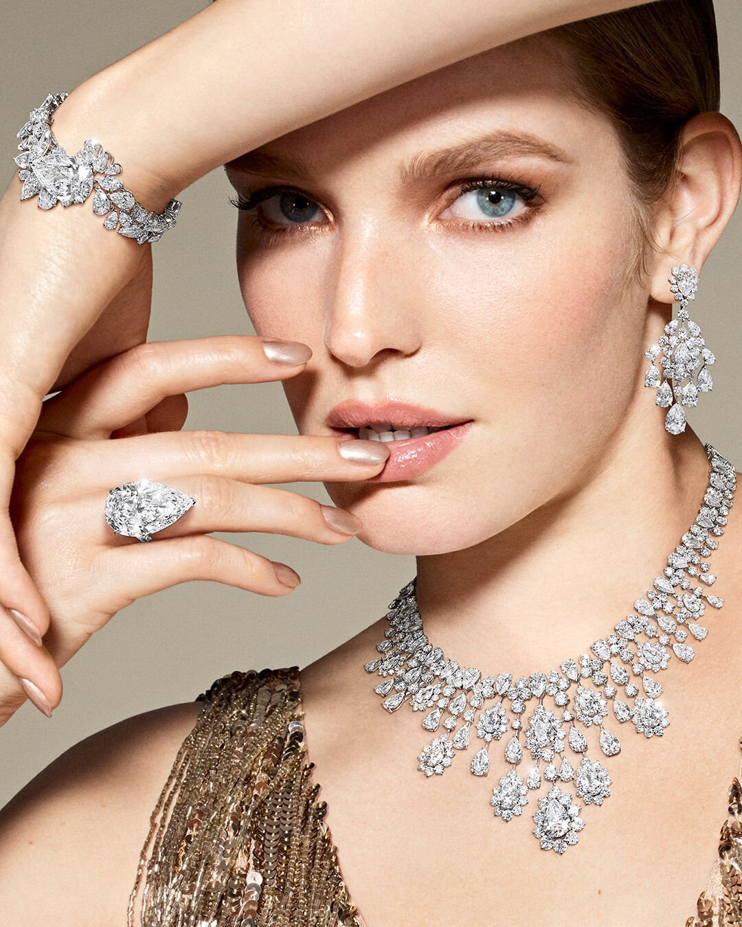 Model wears Graff high jewellery