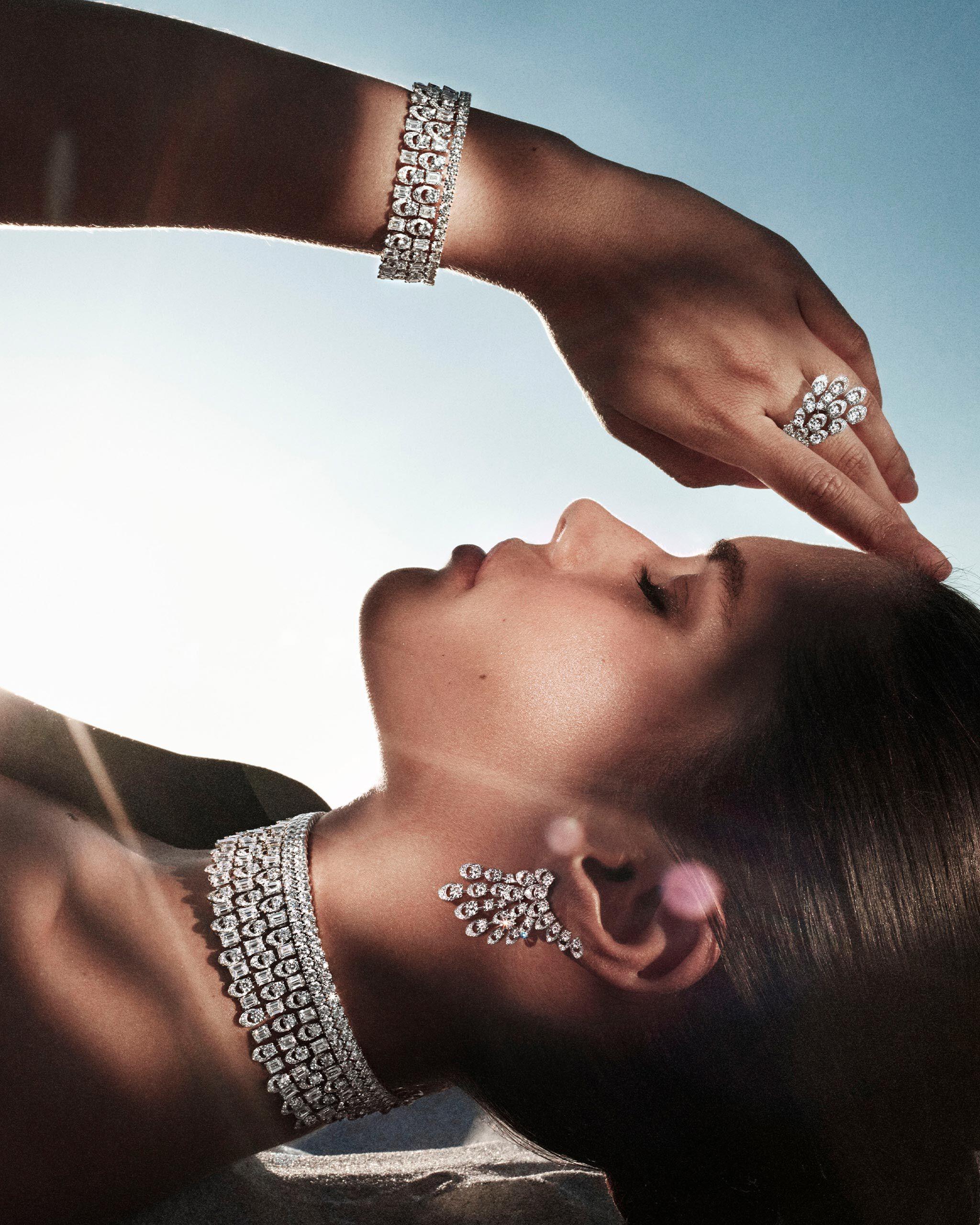 A mesmerising Graff Gateway diamond choker and cuff bracelets