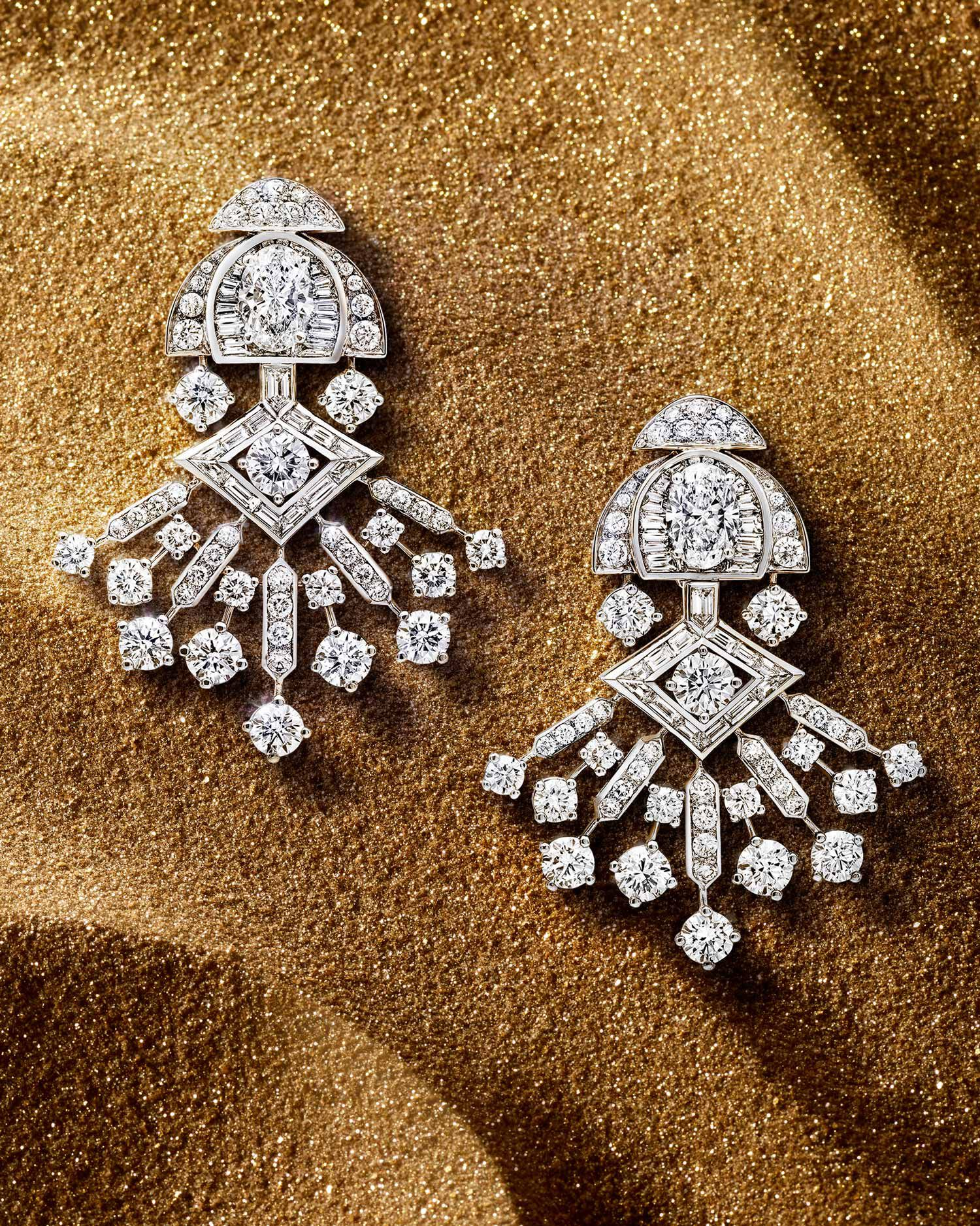Diamond Night Moon high jewellery earrings from the Graff Tribal collection