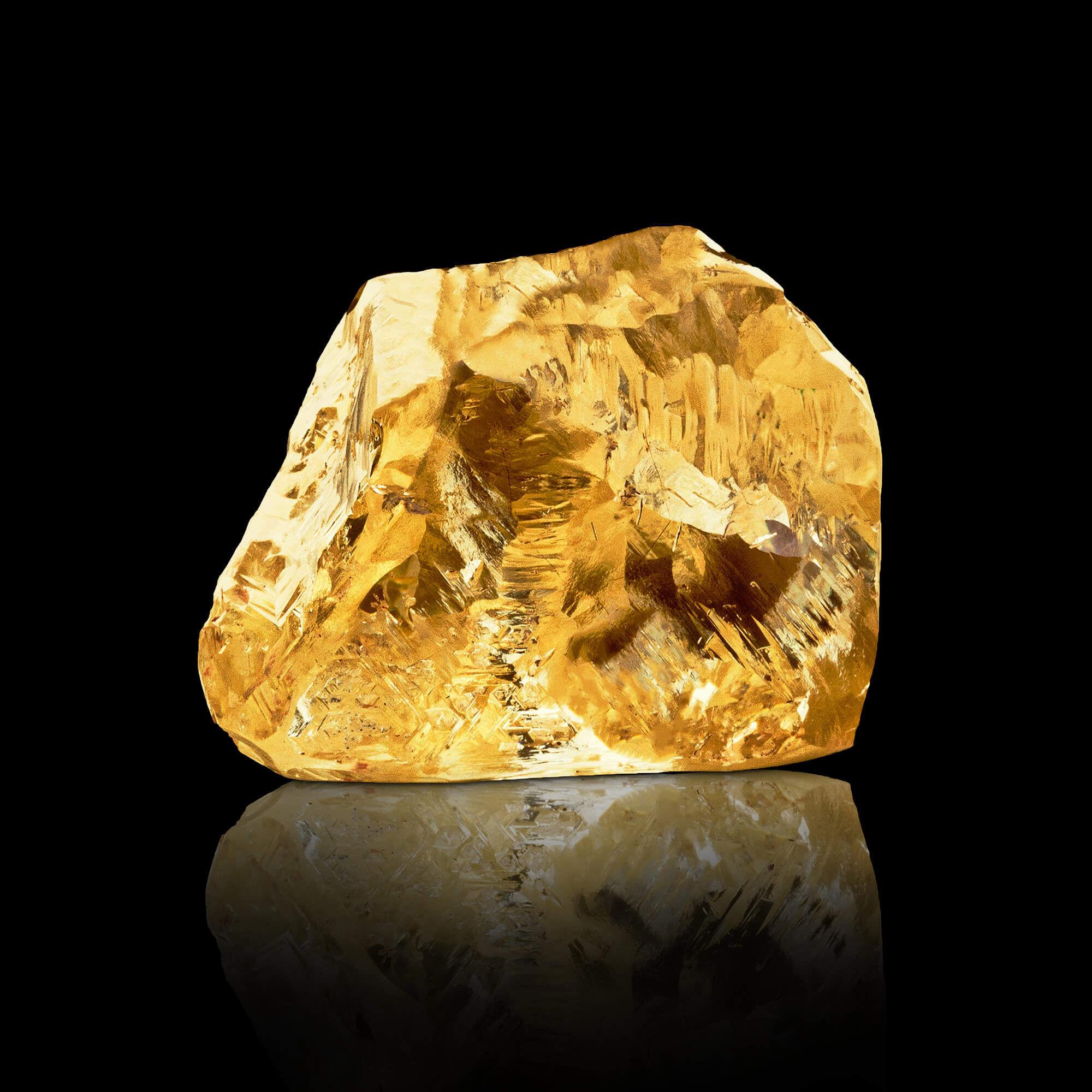 A yellow rough diamond by Graff