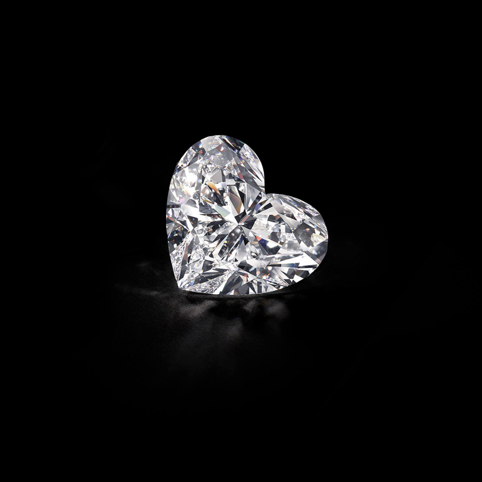The Graff Venus, a 118.78 carat D Flawless heart shape diamond