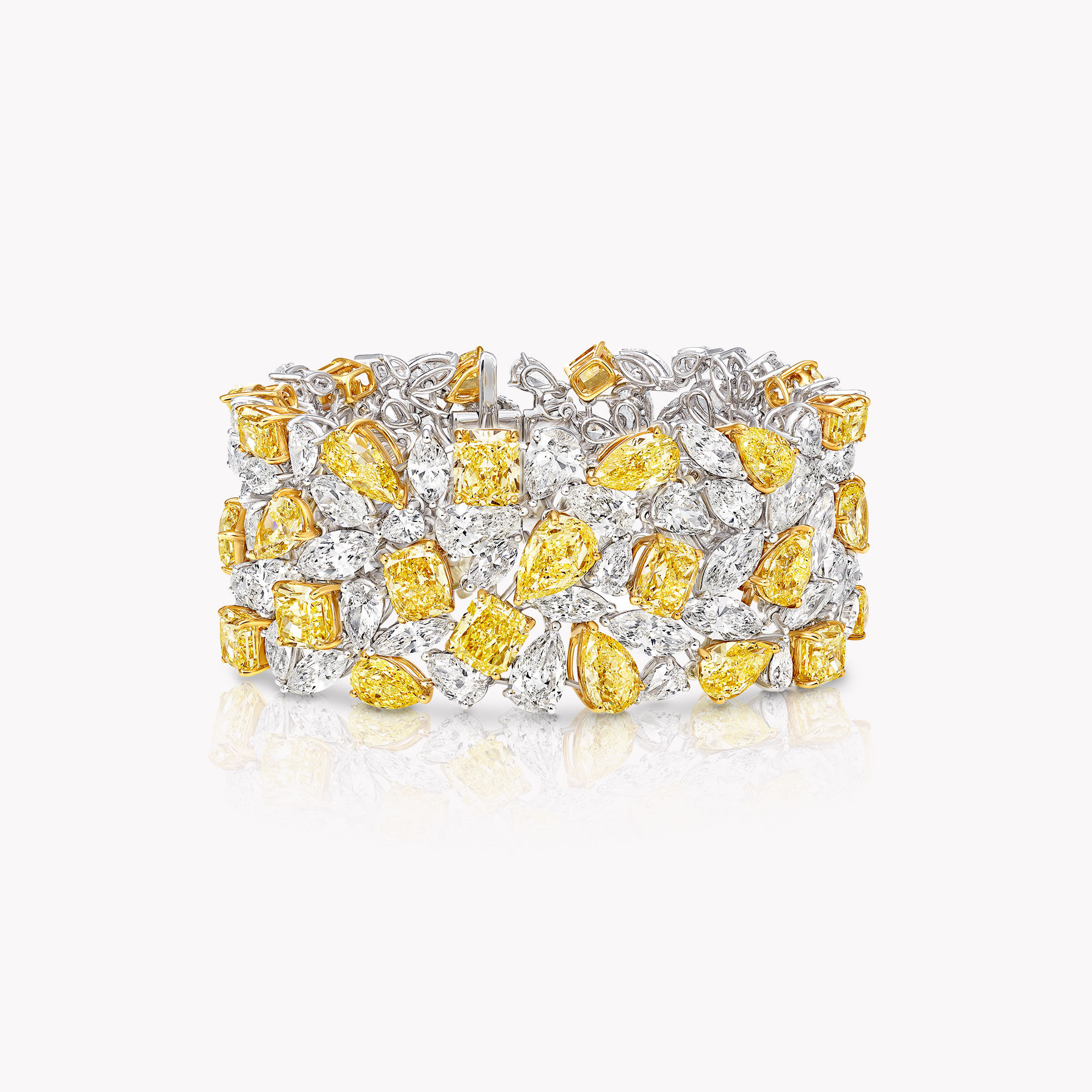 A Graff yellow and white diamond high jewellery bracelet