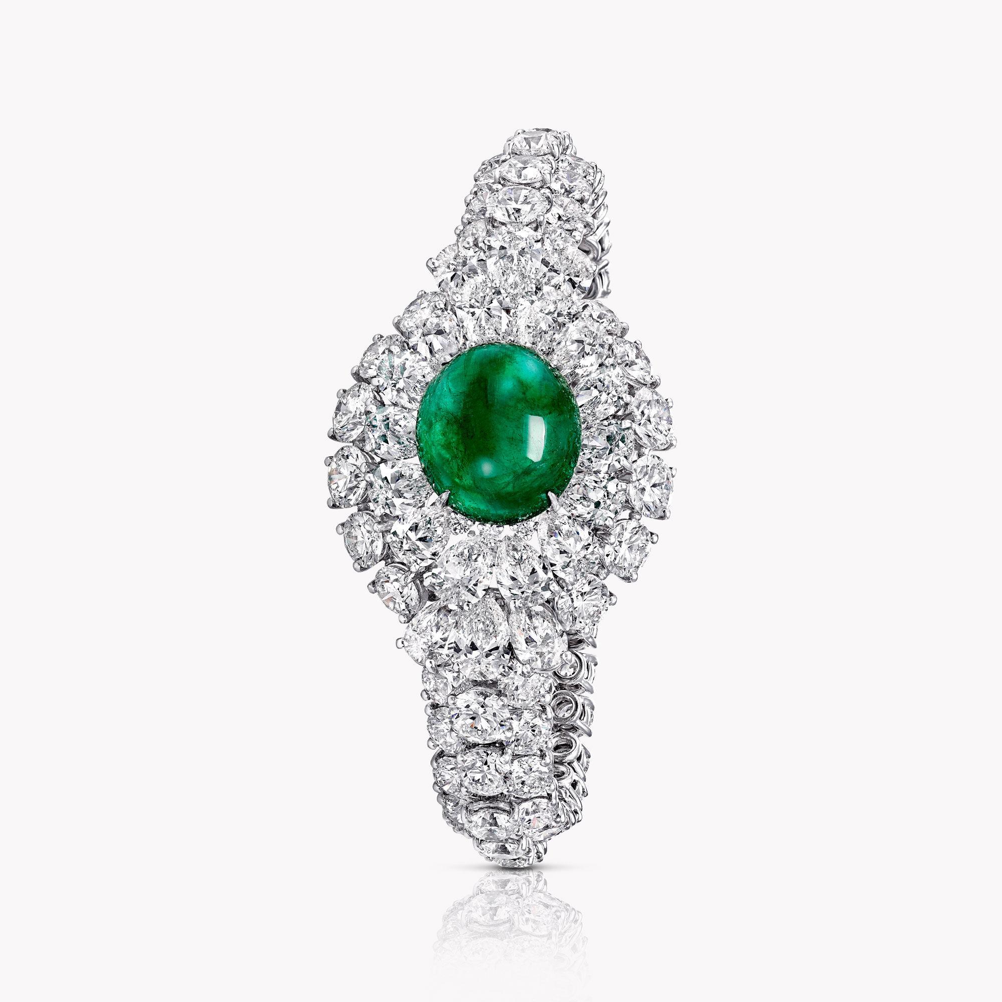 A Graff emerald and white diamond high jewellery bracelet