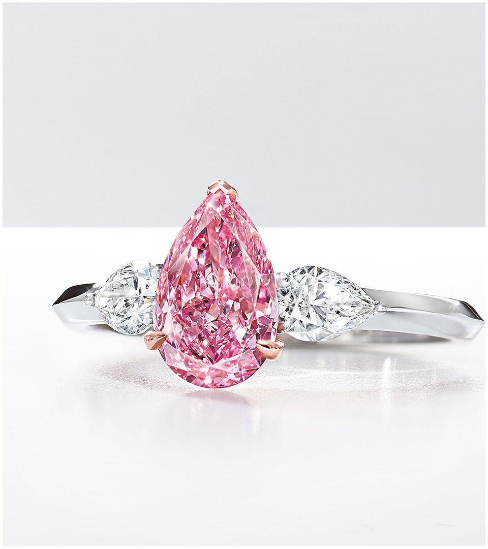 A pear shape pink diamond by Graff