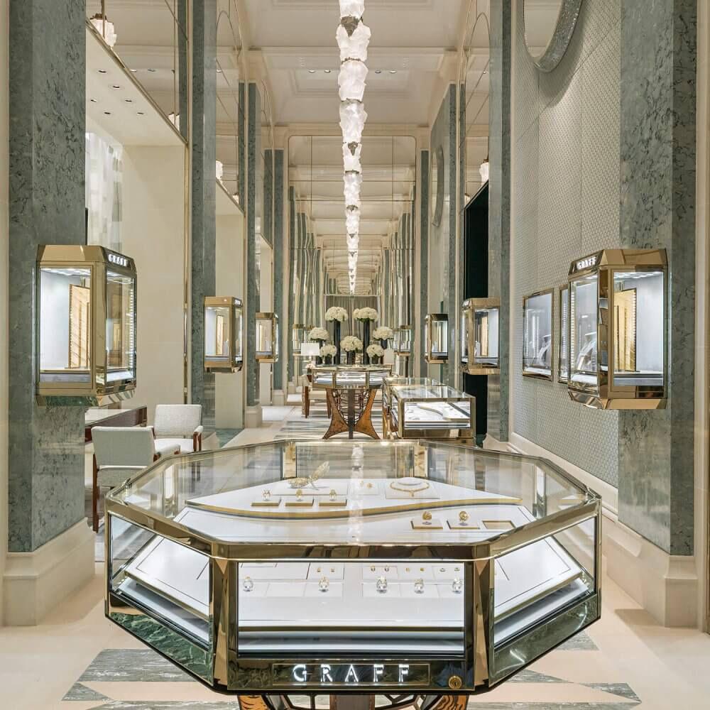 Interior of the Graff Paris Rue Saint Interior-of-the-Graff-Paris-Rue-Saint-Honoré Flagship Jewellery store