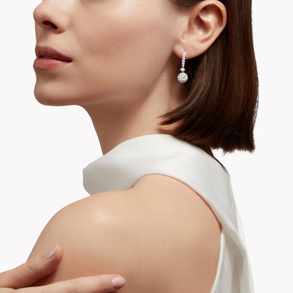 Icon圓形鑽石耳環, , hi-res
