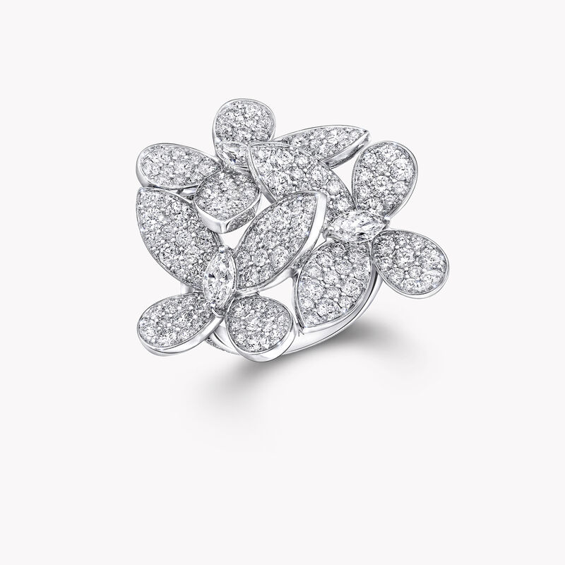 Bague en diamants Triple Pavé Butterfly, , hi-res