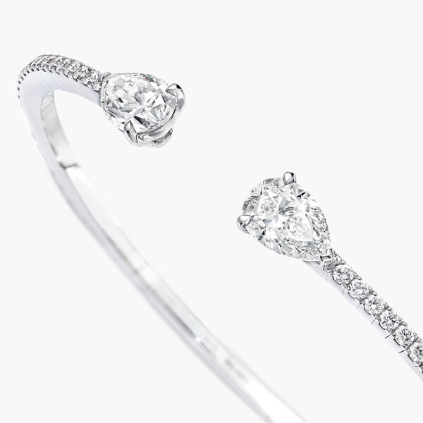 Duet Pavé Diamond Bangle, , hi-res