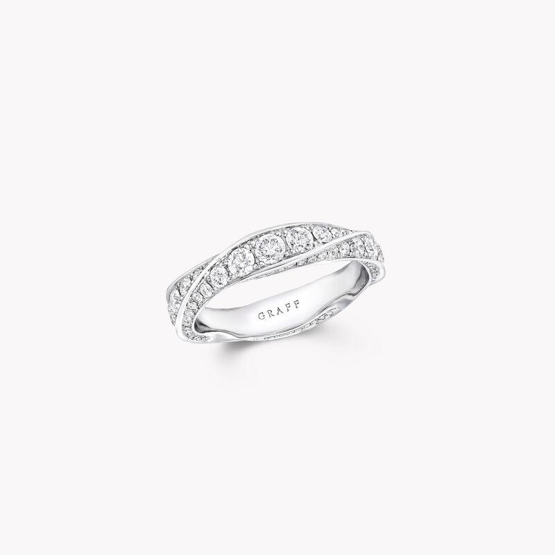 Alliance en pav�s de diamants Spiral, , hi-res