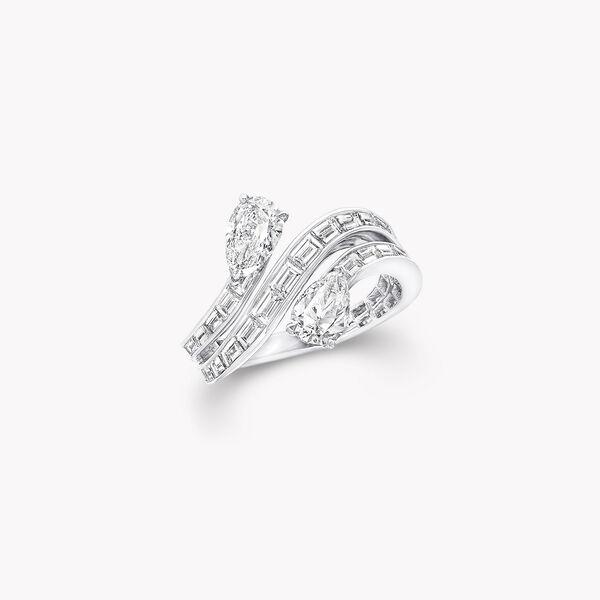 Duet Triple Row Diamond Ring, , hi-res