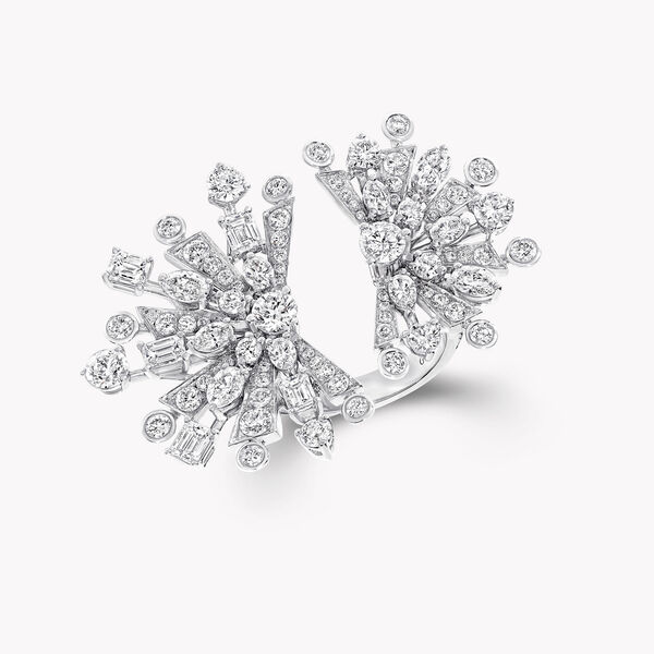 Double bague en diamants Solar, , hi-res