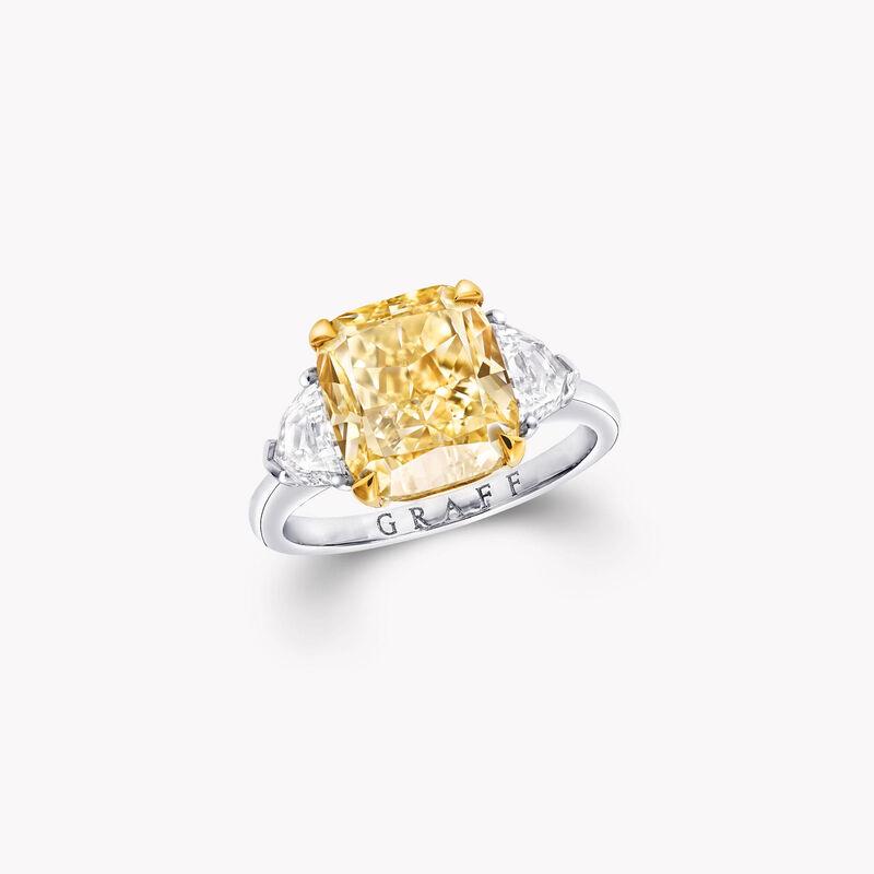 프로미스 래디언트 컷 옐로우 다이아몬드 인게이지먼트 링, , hi-res