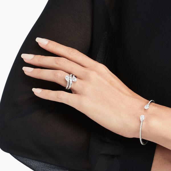 Bracelet rigide en pavés de diamants Duet, , hi-res