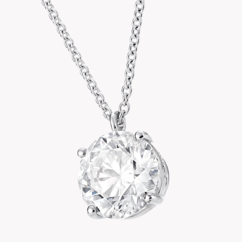 Round Diamond Pendant, , hi-res