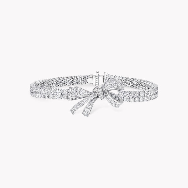 Bracelet en diamants double brin Bow, , hi-res